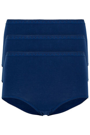 Pack Of Three Stretch Maxi Briefs