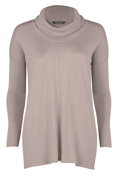 Cowl Neck Tunic With Silk