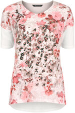 Printed Front Linen Blend Top