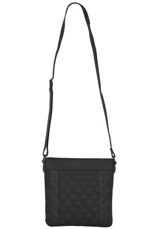 Quilted Front Cross Body With Studs