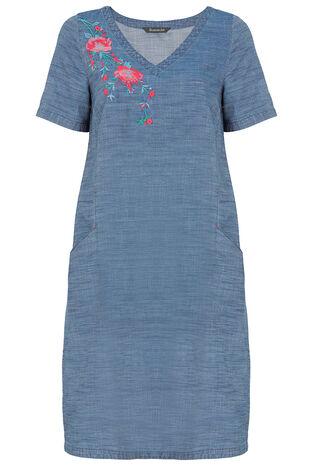 Embroidered Denim Tunic