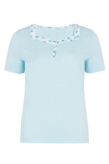 Ditsy Floral Print Trim Pyjama Top