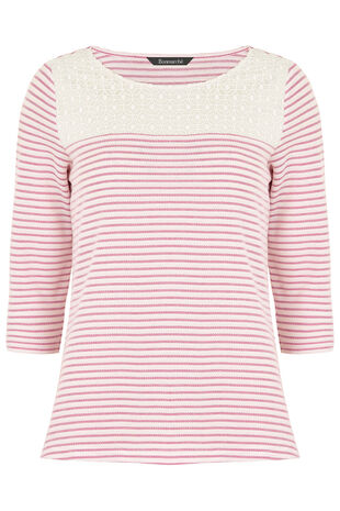 Stripe Textured Rib T-Shirt