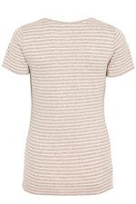 Short Sleeve V-Notch Neck Stripe T-Shirt