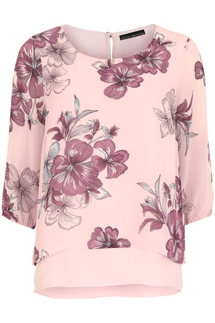 Double Layer Floral Blouse