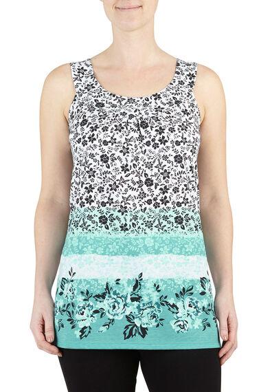 Floral Print Longline Vest