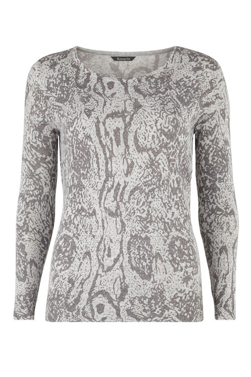 Super Soft Reptile Print Jumper