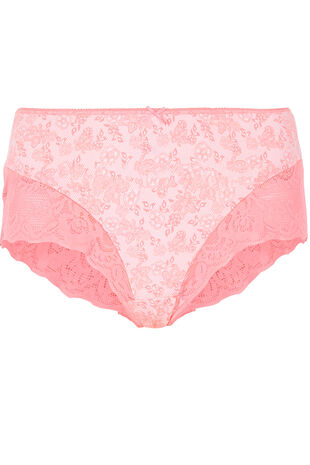 Lace Print Trim Brief