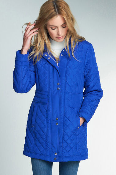 Quilted Coat With Concealed Hood