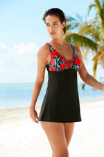Carnation Print Swimdress