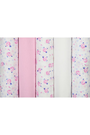 5 Pack Pink Rose Print Full Briefs