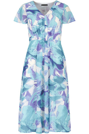 David Emanuel Floral Fit And Flare Dress