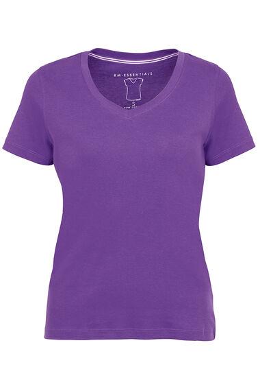 Basic Cotton V Neck T-Shirt