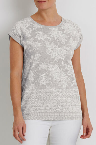 Floral Highlight Print T-Shirt