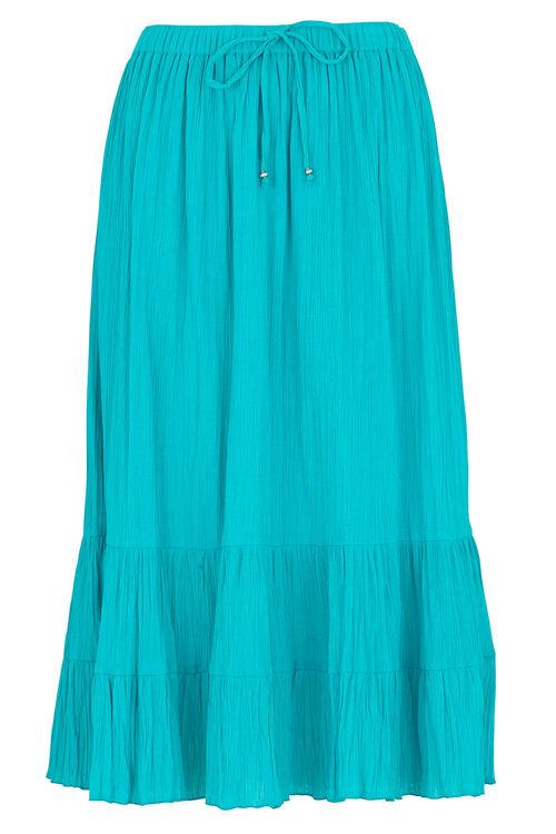 Tiered Crinkle Skirt