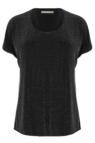 Ann Harvey Sparkle Front Jersey Top