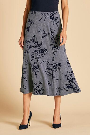 Grey Flock Skirt