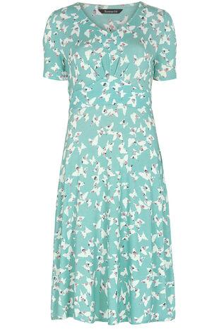 Butterfly Jersey Tea Dress