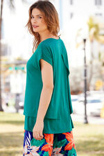 Ann Harvey Double Layer Top with Necklace