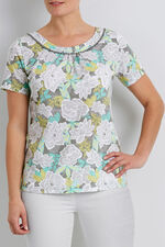Jungle Floral Lace Detail T-Shirt