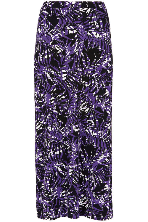 Printed Maxi Tube Skirt