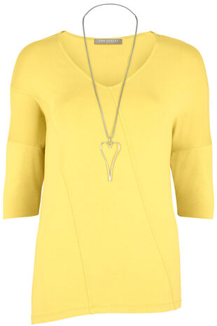 Ann Harvey Seam Detail Necklace Top