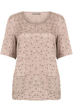 Ann Harvey Crushed Spot Print Top
