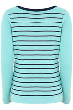 Metallic Yarn Striped Jumper