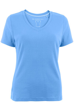 Basic Cotton V Neck T-Shirt