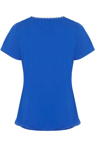 Broderie Anglaise Yoke T-Shirt
