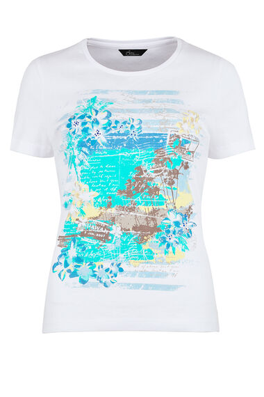 Cotton Tropical Print T-Shirt