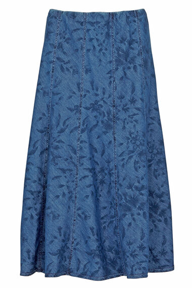 Printed Chambray Skirt