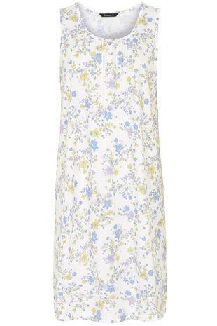 Floral Sleeveless Nightshirt