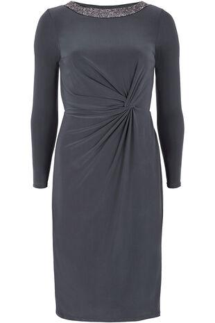 Long Sleeved Embellished Neckline