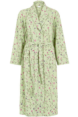 Floral Waffle Robe