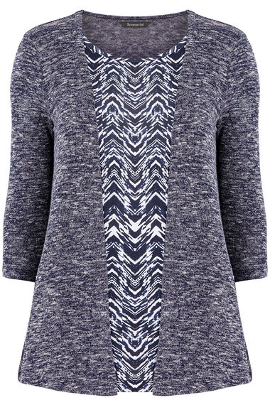Textured 2 in 1 Top