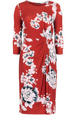 Oriental Print Sculpting Dress