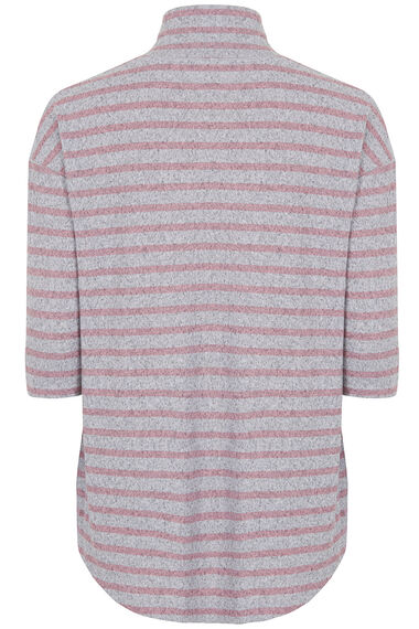 Soft Touch Stripe Sweat Top