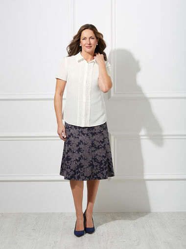 Short Sleeve Embroidered Shirt
