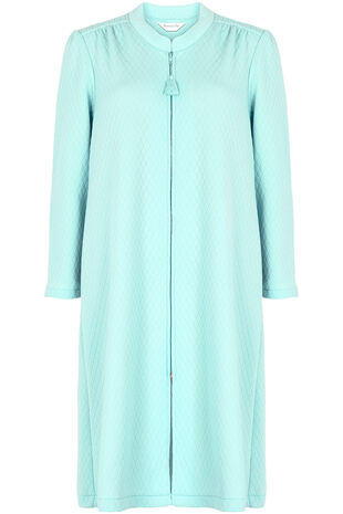 Quilted Zip Through Dressing Gown