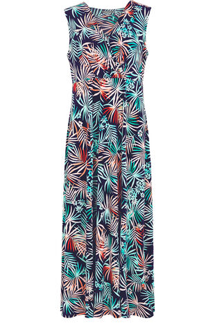 Ann Harvey Ombre Palm Maxi Dress