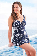 Floral Print Bow Detail Swimdress