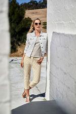 Ikat Printed Capri Trousers