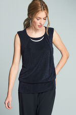 Sleeveless Glitter Knit Top