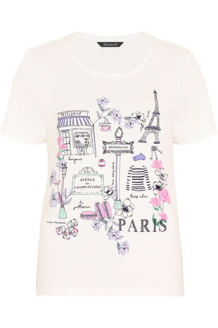 Paris Placement Print T-Shirt