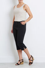 Stretch Twill Cropped Trousers