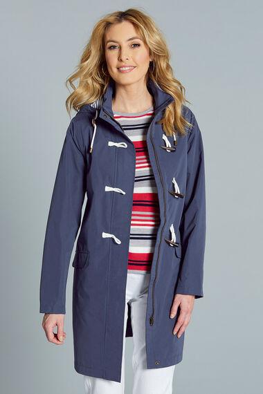 Longline Waterproof Coat with Toggle
