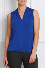 V-Neck Elasticated Hem Top