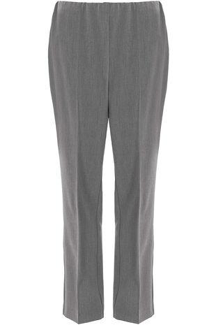 Comfort Waist Straight Leg Trousers