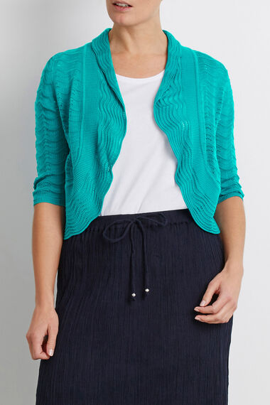 Ripple Shrug With Collar